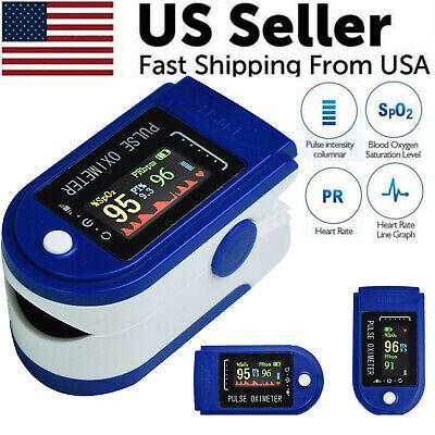 2021 Finger Pulse Oximeter Blood Oxygen Saturation Spo2 Heart Rate Tft Display