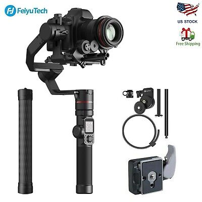 Feiyu AK4000 3-Axis Gimbal Stabilizer with Follow Focus &Extension Pole for DSLR