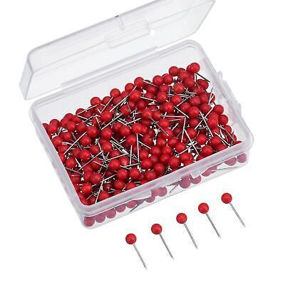 Map Tacks Push Pins Small Size 300 Packs Red 18 Inch