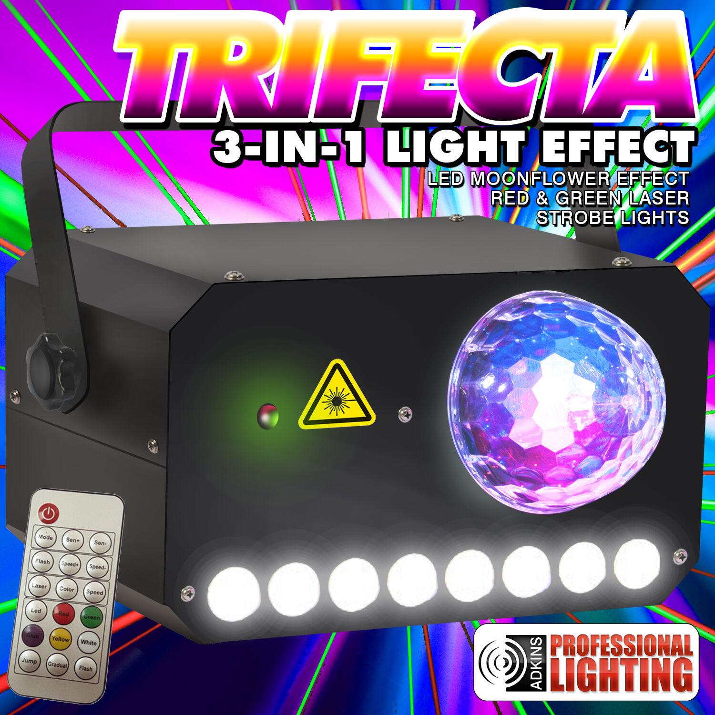 Adkins Lighting TRIFECTA - MoonFlower - Laser - Strobe Combo