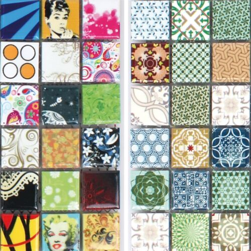 MUSTER von Keramik Mosaikfliesen Dia Bunt Wandfliesen Dekor | Bordüre WC Bad