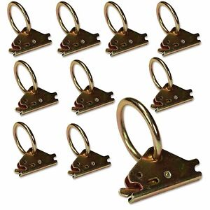 Manufacturer Direct! 10 E-Track O Ring Tie-Down Anchors, Cargo TieDowns