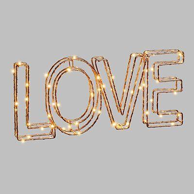 Letras 3D luminosa de metal - 35 x 15 cm - Love