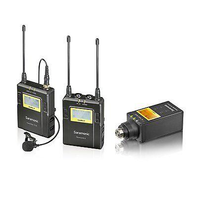Saramonic UWMIC9 UHF Wireless Lavalier + XLR Plug-in Microphone System 2 TX/1 (Wireless Uhf Xlr Plug)