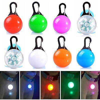 8 PCS PET LIGHT COLLAR PUPPY DOG/CAT LED GLOW TAG PENDANT FLASHING SAFETY NIGHT