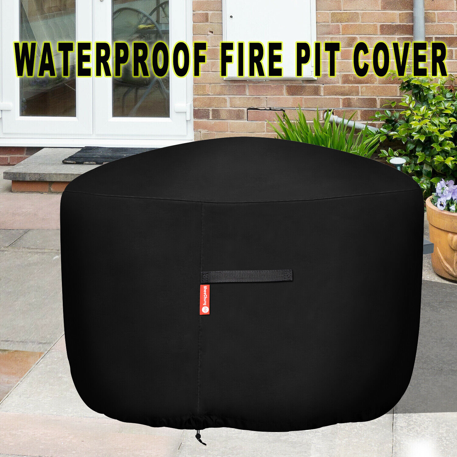 """New 36"""" Gas Fire Pit/Table Cover Round 210D Premium Patio Ou"""