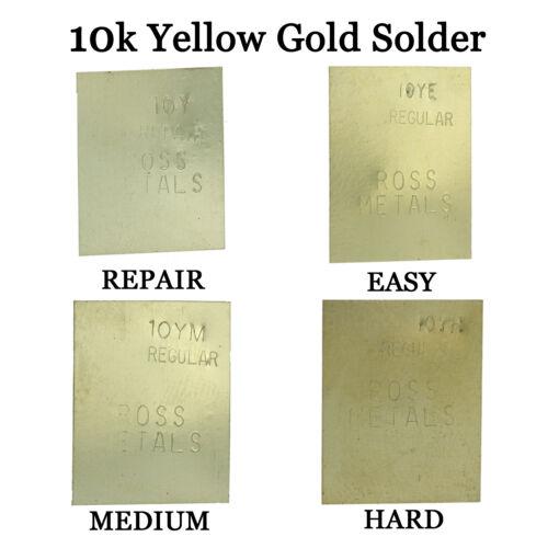 10K Yellow Gold Solder Easy Medium Hard & Repair One Gram Plate Jewelry Repair