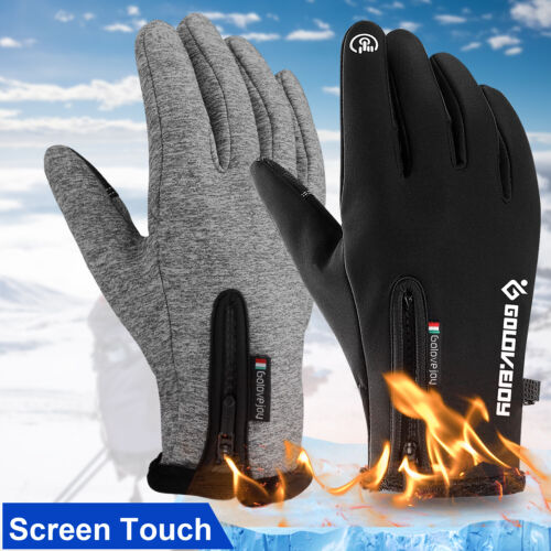 -10℃ Waterproof Winter Warm Ski Gloves Thermal Touch Screen Motorcycle Snow Men