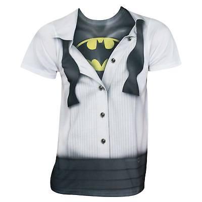 Batman Tuxedo Costume Tee Shirt White