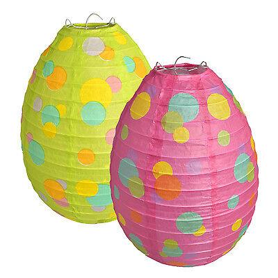 Easter Paper Lantern Large Spotty Egg Shaped Hanging Decoration (Easter Lantern Decorations)