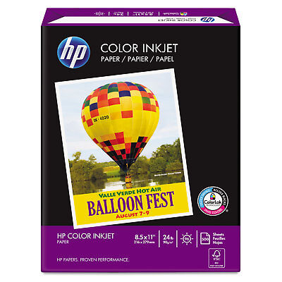 Hp Color Inkjet Paper 96 Brightness 24lb 8-12 X 11 White 500 Sheetsream 202000