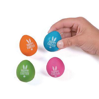 12 ADORABLE foam HAPPY Easter Egg Stress Toys Hunt PRIZE Decoration](Easter Egg Toys)