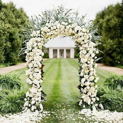 7.9ft Metal Army Green Arch Wedding Party Prom Garden Floral Decoration