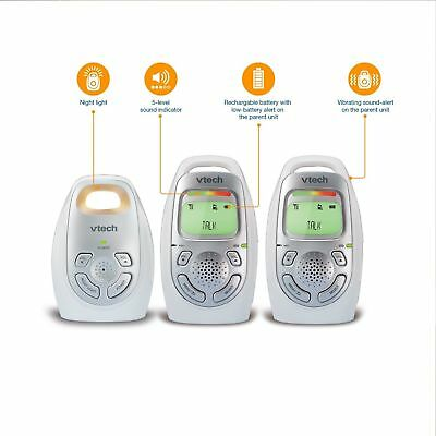 VTech DM223-2 Audio Baby Monitor 1000 ft Range Vibrating Alert Intercom & Light
