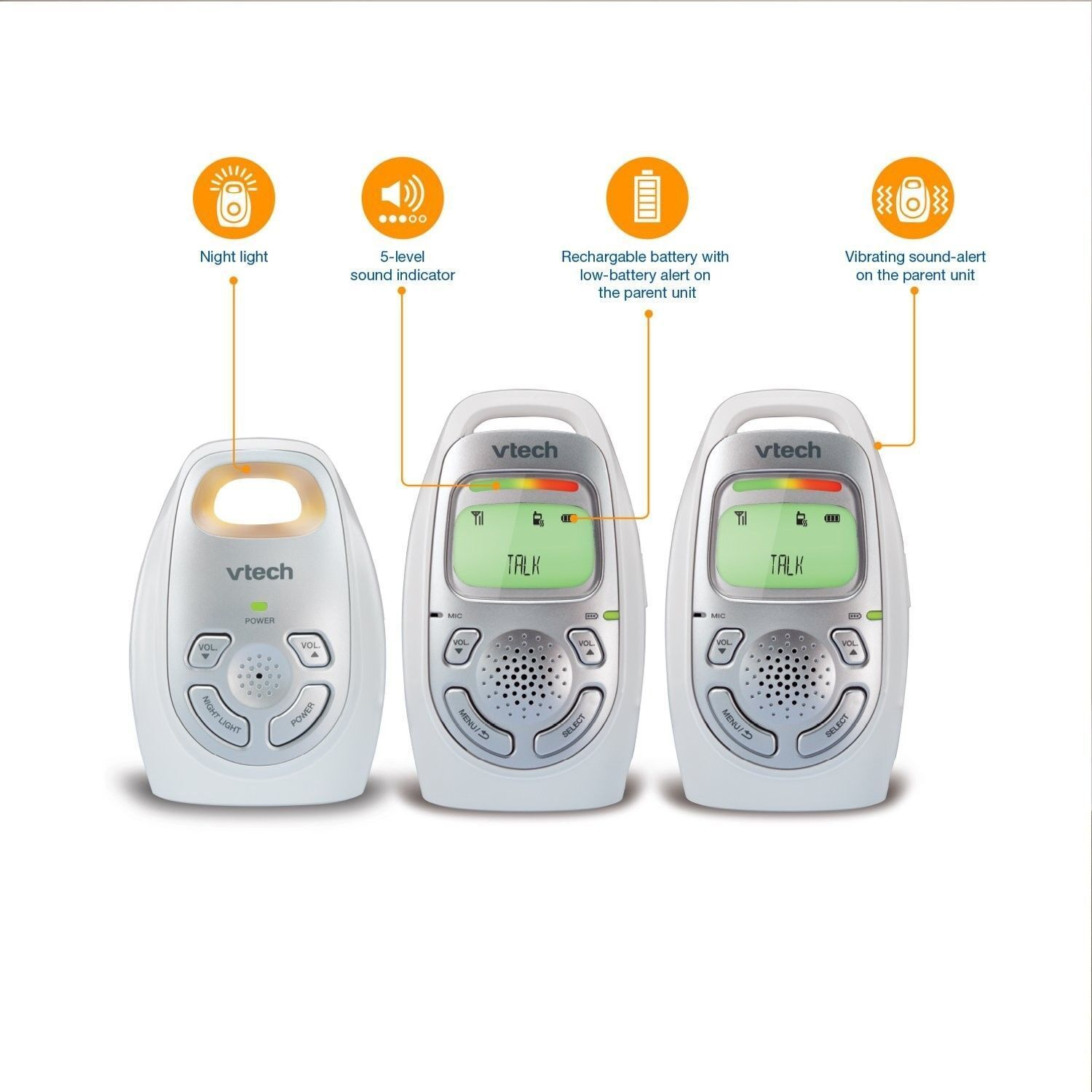 VTech Safe Digital Audio Baby Monitor with 2 Parent Units -