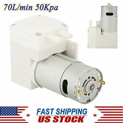 Dc 12v Noiseless Mini Vacuum Pump Negative Pressure Suction Pump 70lmin 50kpa