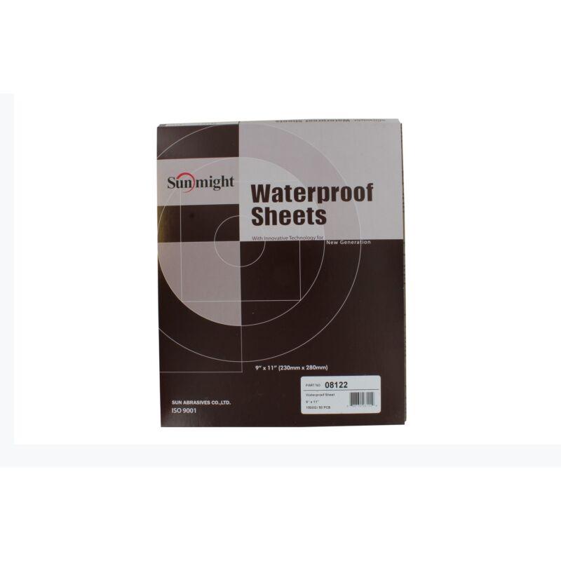 "Sunmight 08122 9"" x 11"" 1500 Grit Waterproof Sanding Sheets"