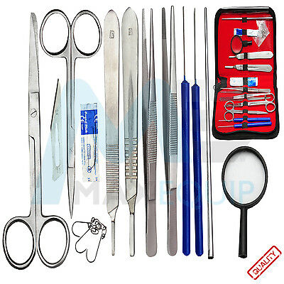 Prof. 13 Pcs Surgical Anatomy Instruments Set Basic De Medical Dissecting Kit