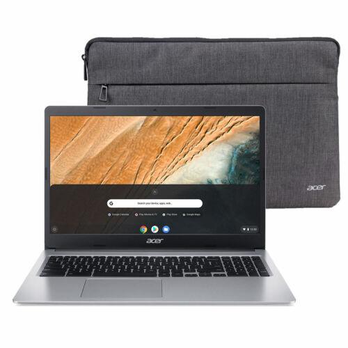 """NEW Acer 15.6"""" HD Chromebook Intel N4000 32GB 4GB Webcam + Sleeve"""