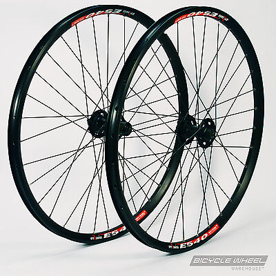 "26"" DT Swiss E540 Black, Shimano XT M756 hubs,Mountain Bike Wheel Set. MTB"