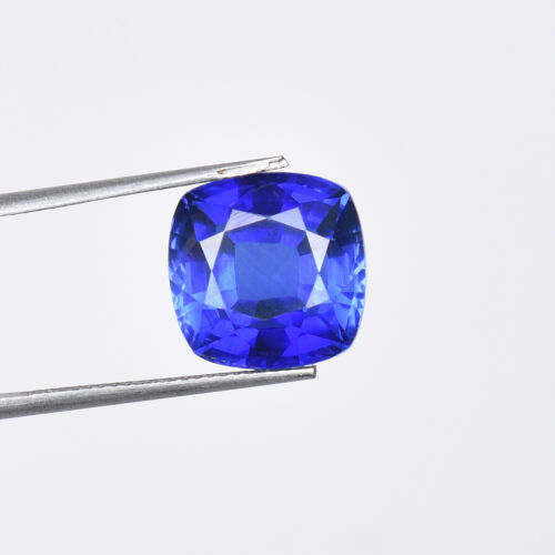 13.30 Ct Natural Ceylon Cornflower Blue Sapphire Square Cut Certified Gemstone