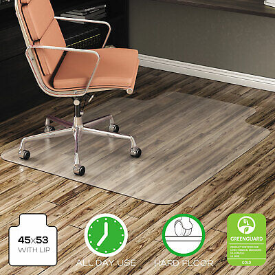 Deflecto Economat Anytime Use Chair Mat For Hard Floor 45 X 53 Wlip Clear