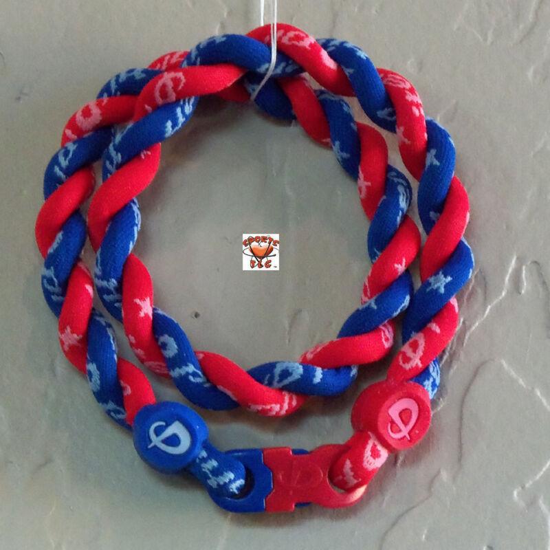 Phiten Tornado Necklace Custom: Royal Blue with Cardinal Red