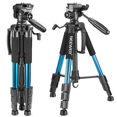 Neewer Treppiedi Blu Estensibile Alluminio con Testa Panoramica 3 Modi Max 4KG