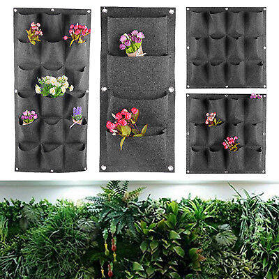 4/12/18 Pocket Hanging Herb Plant Vertical Garden Planter In/Outdoor Wall Bag
