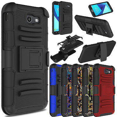 Kickstand Case - For Samsung Galaxy J7 V 2017/Sky Pro/Prime Shockproof Case With Kickstand Clip