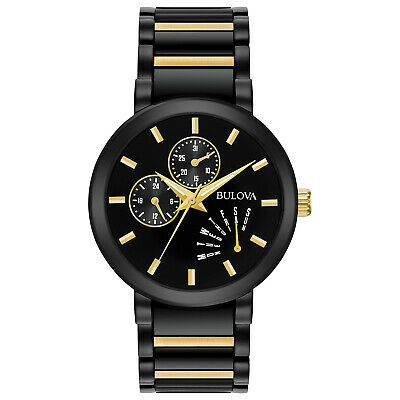 Bulova Futuro Men's Quartz Day/Date Indicator Two-Tone IP 40mm Watch 98C124