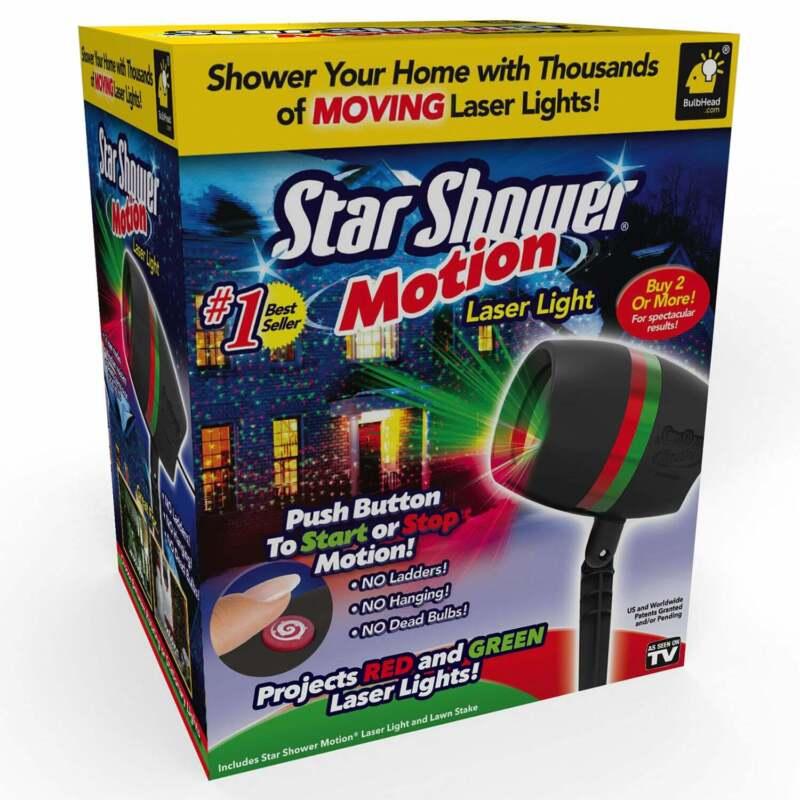 Star Shower Motion Laser Light by BulbHead - Indoor Outdoor Laser Light