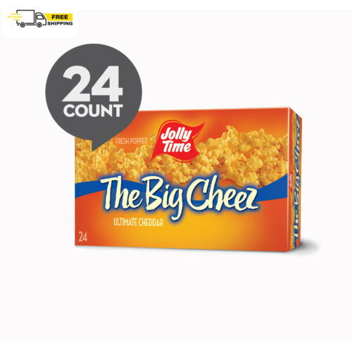 JOLLY TIME The Big Cheez Cheddar Cheese Microwave Popcorn 24 Ct (3.5 Oz. Bags)