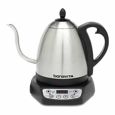 Bonavita BV382510V 1L Digital Variable Temperature Gooseneck Electric Tea Kettle