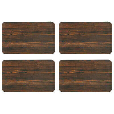 Kesper Frühstücksbrettchen Darkwood 23,5 x B 14,5 x H 0,4 cm (4 Stück)