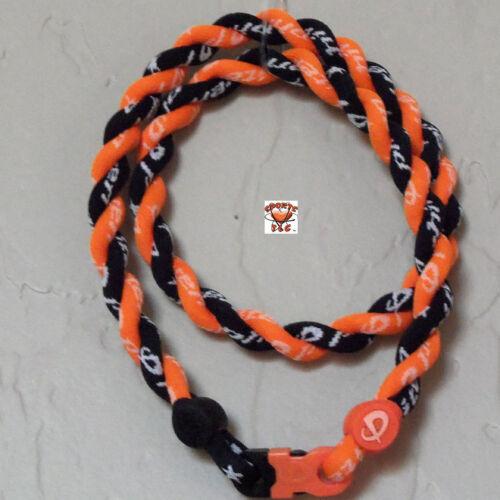 Phiten Tornado Necklace: Black/Bright Orange - Custom