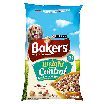 Bakers Weight Control Chicken Dry Dog Food 12.5kg FREE NEXT DAY DELIVERY