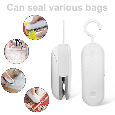 Mini Sealercutter Portable Plastic 2in1 Resealer Heat Sealing Machine Snack Bag