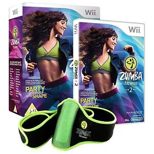 * Nintendo Wii * ZUMBA FITNESS 2 * BRAND NEW with BELT * BOX DAM