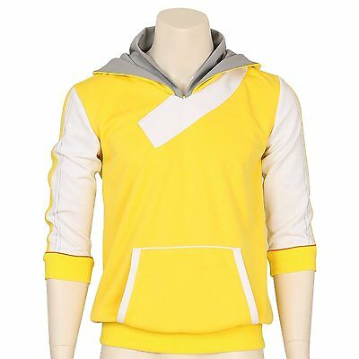 Pokemon Go Trainer Yellow Cosplay Hoodie Hooded Jacket Coat Sweater Suit Costume (Pokemon Trainer Jacket)