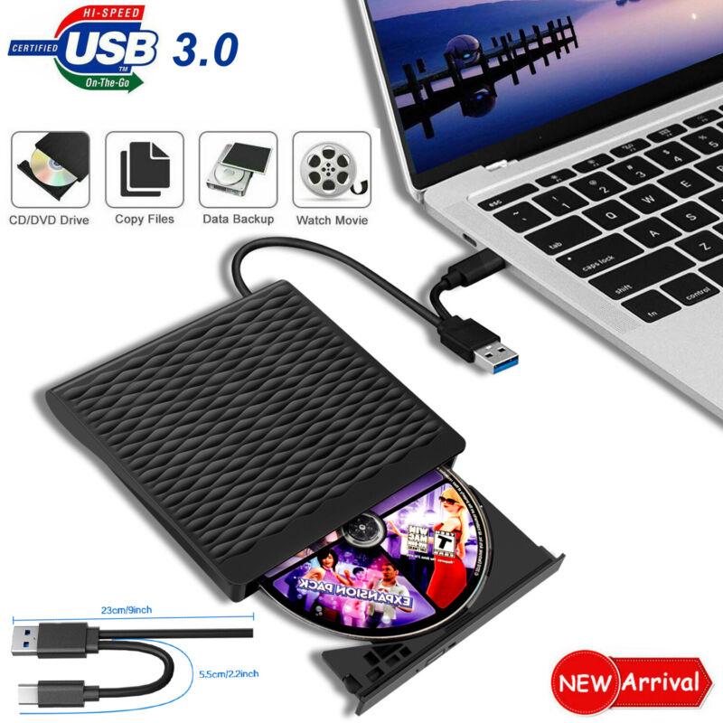 USB 3.0 Type C DVD-RW External Optical Drive CD ROM Disk Reader DVD RW Burner CD