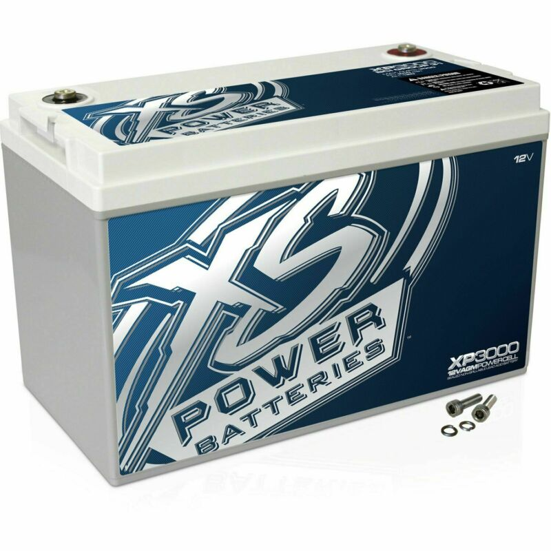 XS Power 12V Compact Pro Car Audio Battery AGM 120 Amp Hours XP3000