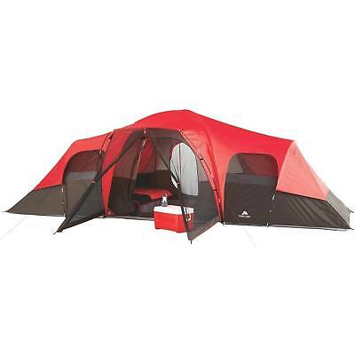 10 Person Cabin Tent 3 Rooms Family Tents Ozark Trail All Season Camping