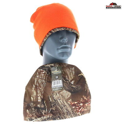 eb53a54cabc 2 Muddy Water Camo and Blaze Orange Reversible Watch Beanie ~ New