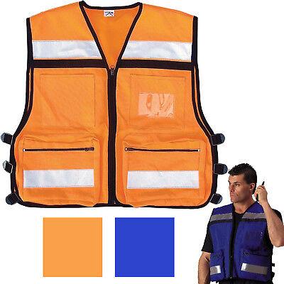 Emergency Rescue Vest High Visibility Safety Hi-vis Reflective Ems Emt Paramedic