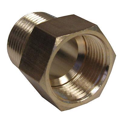 Brass Adapter 12 Npt Male X 12 Bspp Female New