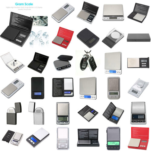 200g/500gx0.1g Digital LCD Electronic Balance Weight Pocket Jewelry Scale LOT