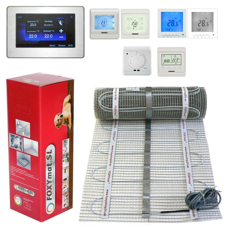 elektrische Fußbodenheizung PREMIUM TWIN 160 Watt 1 2 3 4 5 6 7 8 9 10 m² qm Bad