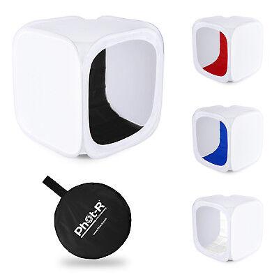 Phot-R Photo Studio Light Tent Soft Box Cube 40x40x40cm + 4 Coloured Backdrops