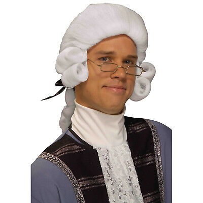 Forum Novelties Men's Colonial George Washington Historical Costume Wig, White - White Costume Wig